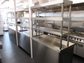 Commercial Kitchen Fabrication Racks and stainless steel tables